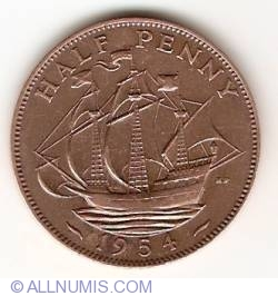 Image #1 of 1/2 Penny 1954