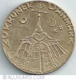 Image #1 of 20 Kroner 1992 - Silver Wedding Anniversary