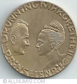 Imaginea #2 a 20 Kroner 1992 - Aniversarea Nuntii de Argint