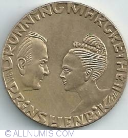 Image #2 of 20 Kroner 1992 - Silver Wedding Anniversary