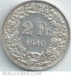 Imaginea #1 a 2 Franci 1940