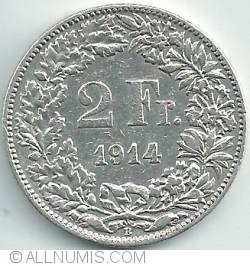 Image #1 of 2 Francs 1914