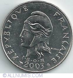 Imaginea #2 a 20 Franci 2003