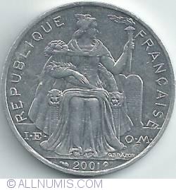Image #2 of 5 Francs 2001