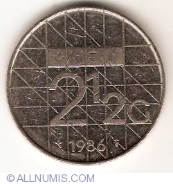 Image #1 of 2-1/2 Gulden 1986