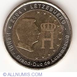 Image #2 of 2 Euro 2004 - Effigy and monogram of Grand-Duke Henri