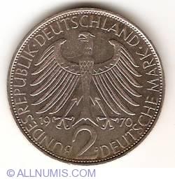 Imaginea #1 a 2 Mărci 1970 D - Max Planck