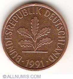 Image #2 of 2 Pfennig 1991 A