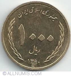 Image #1 of 1000 Rials 2011 (SH 1390)