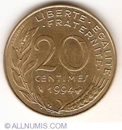 Image #1 of 20 Centimes 1994 (Bee)
