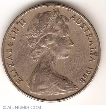 20 Cents 1968, Elizabeth II (1952-present) - Australia