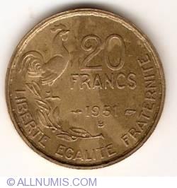 20 Francs 1951 B