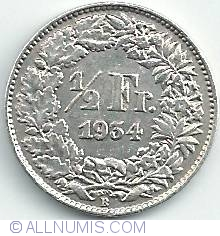 Image #1 of 1/2 Franc 1934