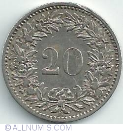 Imaginea #1 a 20 Rappen 1884
