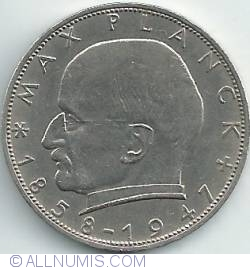 Imaginea #2 a 2 Mărci 1966 F - Max Planck