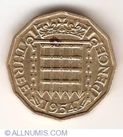 3 Pence 1954