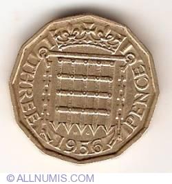 3 Pence 1956