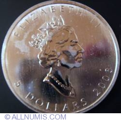 Image #2 of 5 Dollars 2003 - Maple leaf