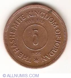 Image #1 of 5 Fils 1955 (AH 1374)