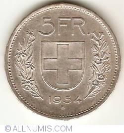Image #1 of 5 Francs 1954