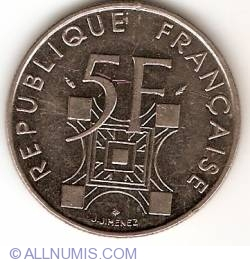 5 Francs 1989 - Centennial of Erection of Eiffel Tower