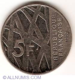 Image #1 of 5 Francs 1992 - Pierre Mendès France