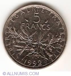5 Francs 1992