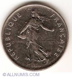 Image #2 of 5 Francs 1992