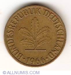 Image #2 of 5 Pfennig 1966 F