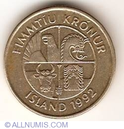 Image #2 of 50 Kronur 1992