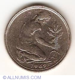 Image #2 of 50 Pfennig 1969 G