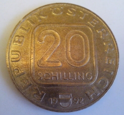 20 Schilling 1992 - Martinsturm In Bregenz