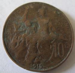 10 Centimes 1915