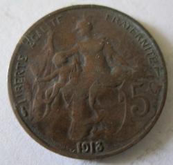 5 Centimes 1913