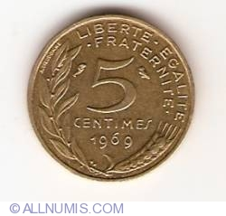 Image #1 of 5 Centimes 1969