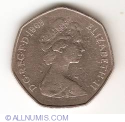 50 New Pence 1969