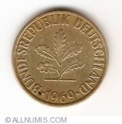 Image #2 of 10 Pfennig 1969 F
