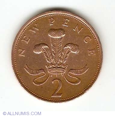 2 New Pence 1979, Elizabeth II (1952-present) - Great