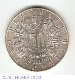 Image #1 of 50 Schilling 1963 - 600th Anniversary - Union with Tirol