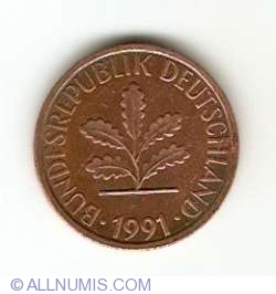 Image #2 of 1 Pfennig 1991 J