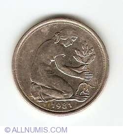 Imaginea #2 a 50 Pfennig 1981 F