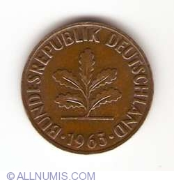 Image #2 of 2 Pfennig 1963 D