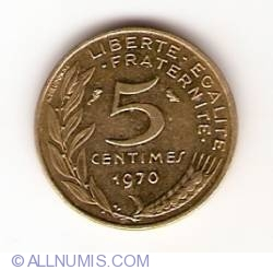 Image #1 of 5 Centimes 1970