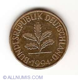 Image #2 of 10 Pfennig 1994 G