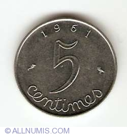 5 Centimes 1961