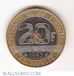 Image #1 of 20 Francs 1992