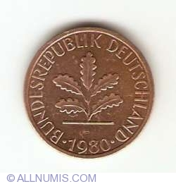 Image #2 of 1 Pfennig 1980 J