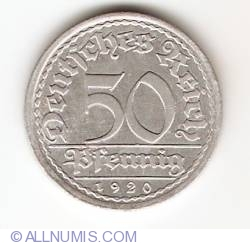 Image #1 of 50 Pfennig 1920 A