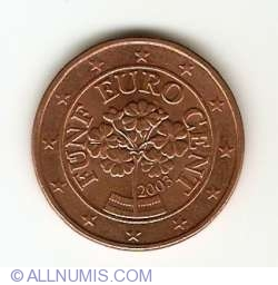Image #2 of 5 Euro Cent 2003