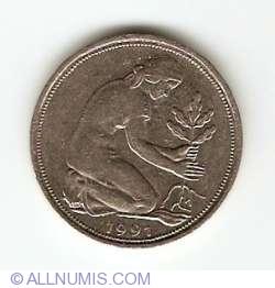 Imaginea #2 a 50 Pfennig 1991 D